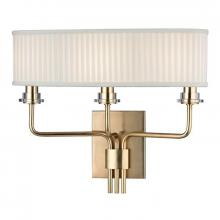 Hudson Valley 3353-AGB - 3 Light Wall Sconce
