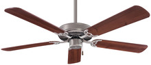 "Minka-Aire F547-BS/DW - Contractor  52"" - Brushed Steel with Dark Walnut Blades"